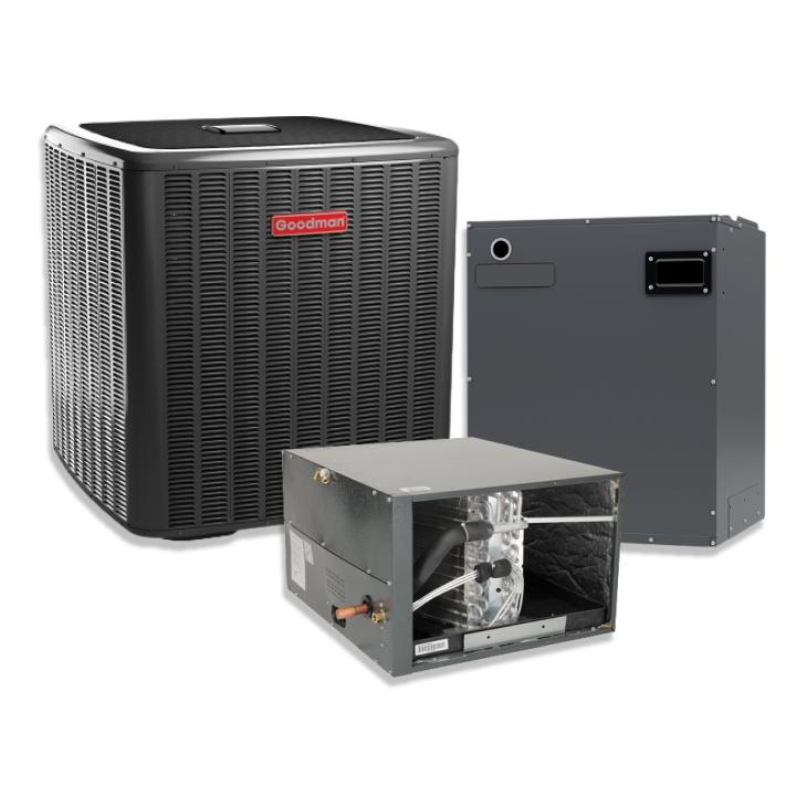 Goodman 3 Ton 20 SEER Horizontal Two Stage Variable  Speed Split Heat Pump Inverter with 10KW Heat Strip