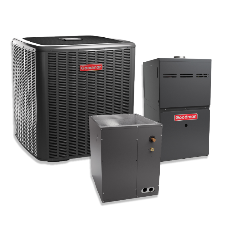 Goodman 2 Ton 20 SEER Two Stage Variable Speed Upflow AC Inverter 80% AFUE Gas Furnace