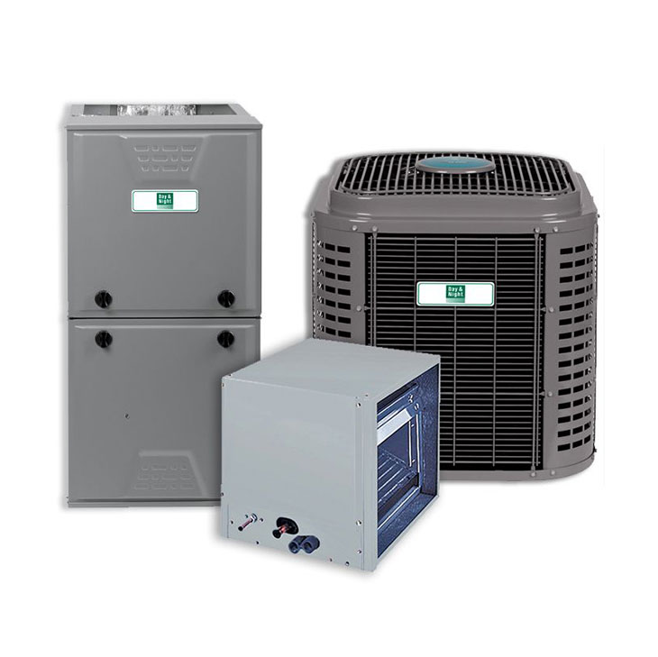 Day and Night 5 Ton 16 SEER 80% AFUE 56,000 BTU 2 Stage Communicating Gas Split System Actual AHRI Rating of 16