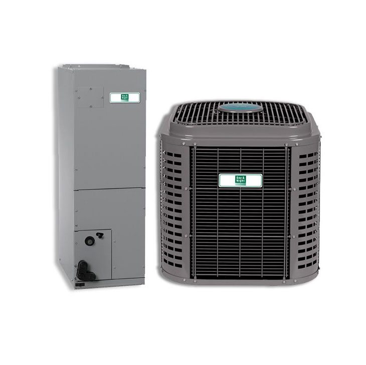 Day and Night 5 Ton 16 SEER 2 Stage Communicating Multi-Positional Split Heat Pump System Actual AHRI Rating of 16 SEER